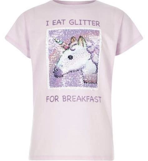 Jcfashion Croped T Shirt Sleeve Sweater Della river island lilac unicorn reversible sequin t shirt shopstyle tees