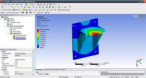 ansys work bench tutorial analysis of bracket in ansys workbench grabcad