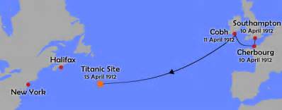 Titanic Route Map by Titanic Route Map Related Keywords Amp Suggestions Titanic