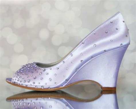 Lilac Shoes For Wedding by Purple Wedding Shoes Lilac Peep Toe Wedge Wedding Shoes