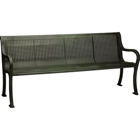 hd bench tradewinds oasis 6 ft perforated bench with back in