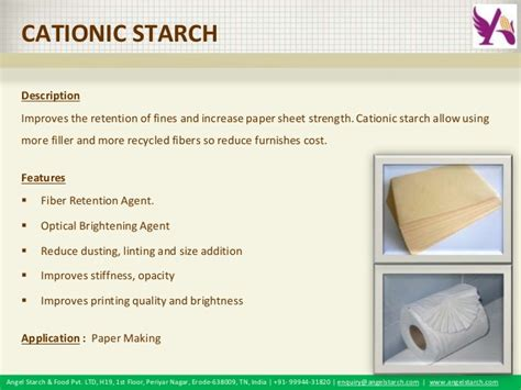 Starch For Paper - starch paper grade starch products