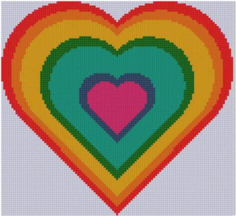 heart pattern rainbow mother bee designs january 2014
