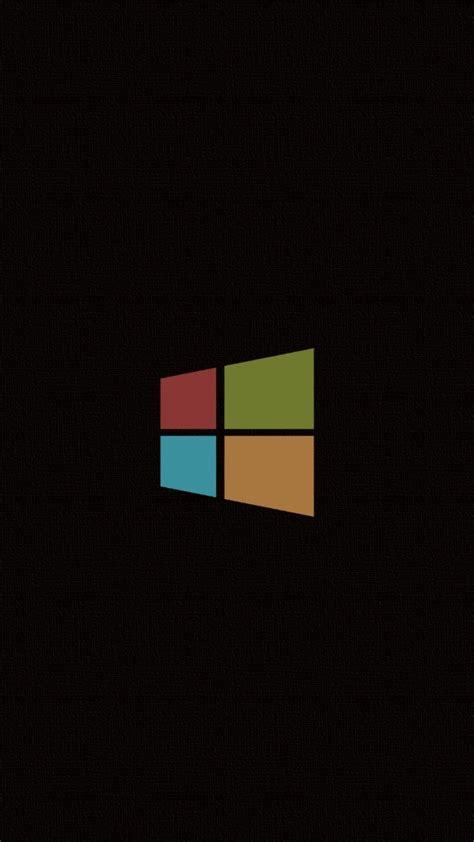 minimalistic windows  logos simple background black