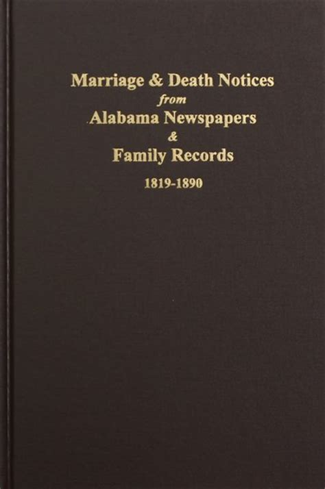 Marriage Records Alabama Alabama Newspapers And Family Records 1819 1890 Marriage