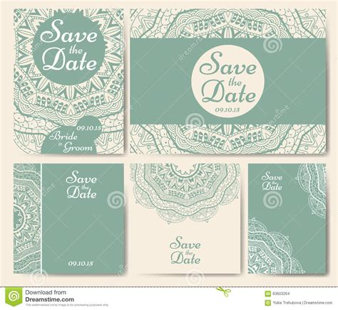 Wedding Card Template With On It by Set Of Wedding Invitations Wedding Cards Template With