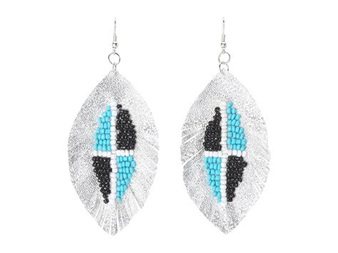 beaded fringe earrings soule beaded fringe earrings silver shipped