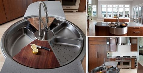 Awesome Rotating Sink Has Cutting Board Colander And More