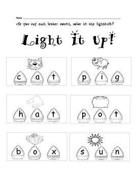 light cvc lights cvc activities by j teachers