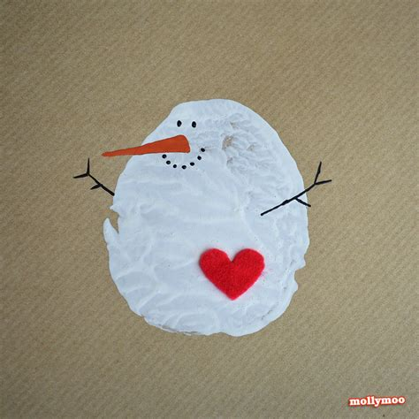 snowman crafts for to make mollymoocrafts diy cards potato printed snowman