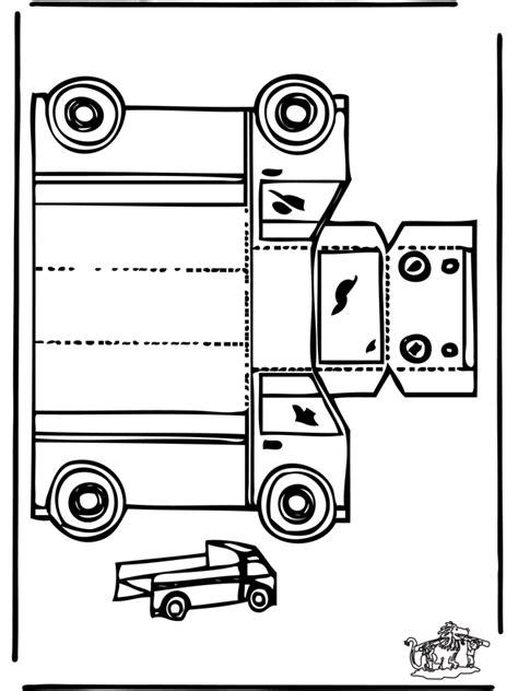 papercraft truck cut