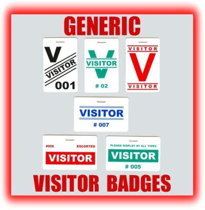 Visitor Id Card Template by Generic Visitor Badges