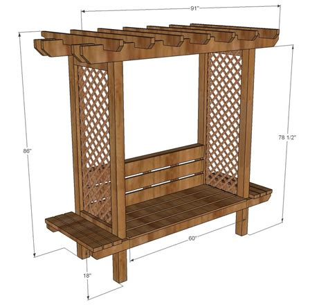 outdoor bench  arbor outdoor furniture bench diy