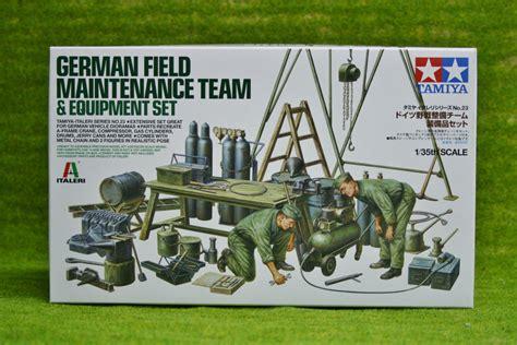 1 35 German Field Maintenance Team Tamiya Model Kit Mokit tamiya german field maintenance team and equipment 1 35 scale kit 37023 arcane scenery and models