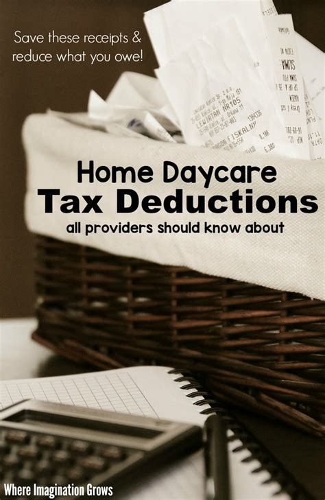home daycare tax deductions for child care providers