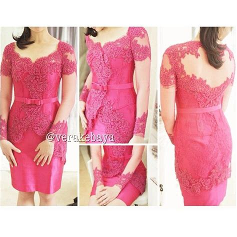 Promo Dress Pendek Brukat Mini Dress Brokat vera kebaya kebaya modern kebaya dress kebaya pink dress and pink