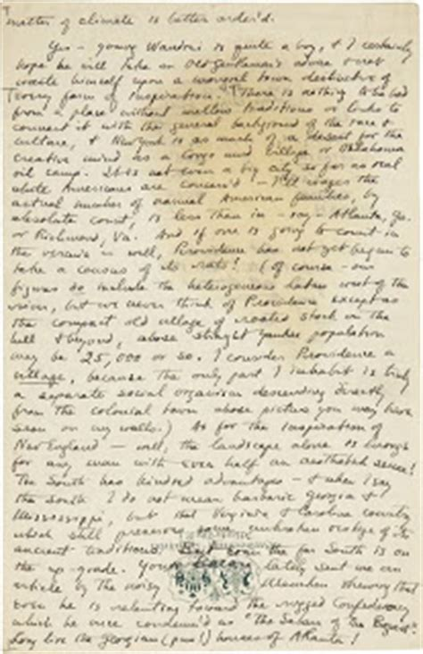 Letter Lovecraft H P Lovecraft And His Legacy February 2008
