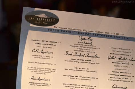 oceanaire seafood room menu san diego restaurant week is here september 21 26 2014 the oceanaire seafood room review