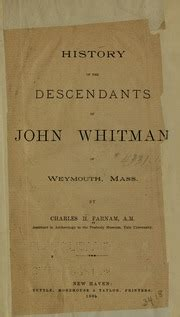 history of the descendants of john whitman of weymouth