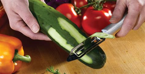 High Carbon Stainless Steel Kitchen Knives peel more than just carrots long vegetable peeler rada