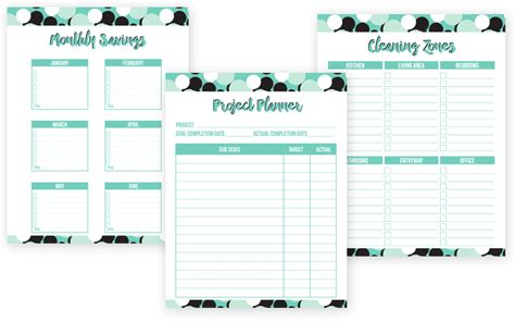 printable life planner pages sweet life printable planner mint edition i heart planners