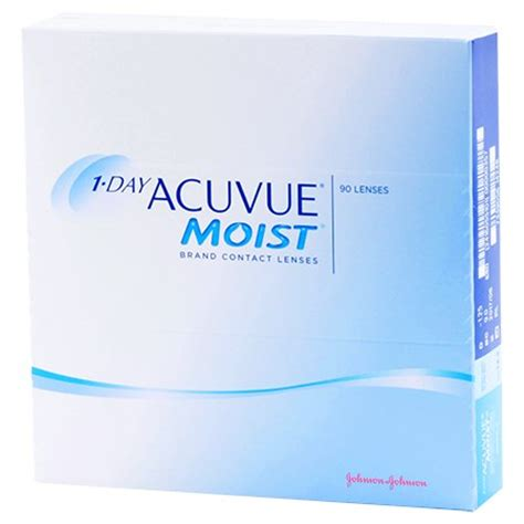 1 day acuvue moist 90 pack contact lenses by johnson