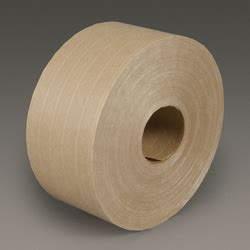 3m water activated paper tape natural medium duty