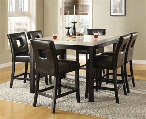 chesapeake ii dining room counter archstone counter height dining room set from homelegance