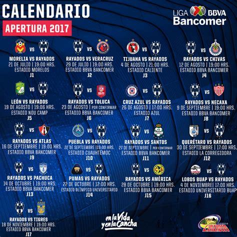 Calendario De Rayados Listo El Camino De Rayados En El Apertura 2017 Sitio