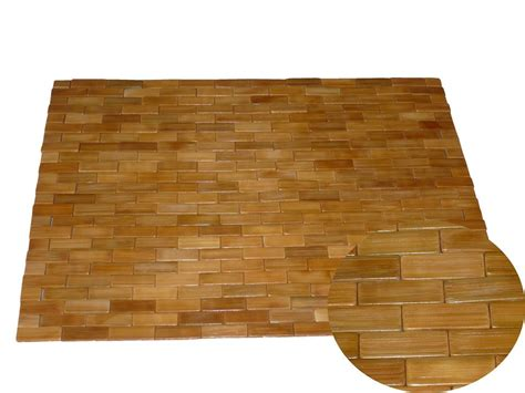 Wooden Mat Bamboo Wood Bathroom Rug Teak Shower Mat Sauna Bamboo Bathroom Rug