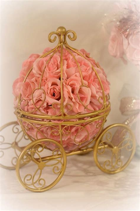 Carriage Centerpiece   Royal party   Pinterest   Centerpieces, Babies and Princess