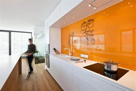 Vintage Kitchen Backsplash Cuisine Couleur Orange Pour Un D 233 Cor Moderne Et 233 Nergisant