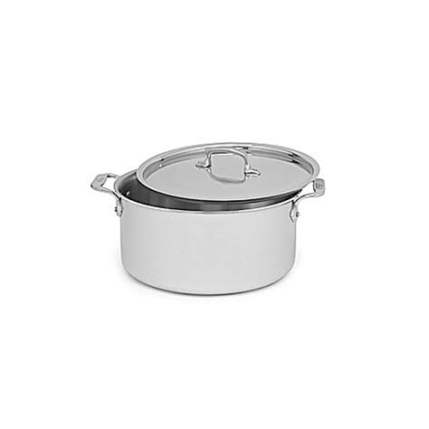 bed bath and beyond pots all clad stainless steel 8 qt covered stock pot bed