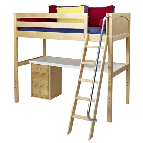 knock out high loft bed with desk rosenberryrooms