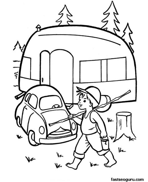 images  camping coloring pages  pinterest