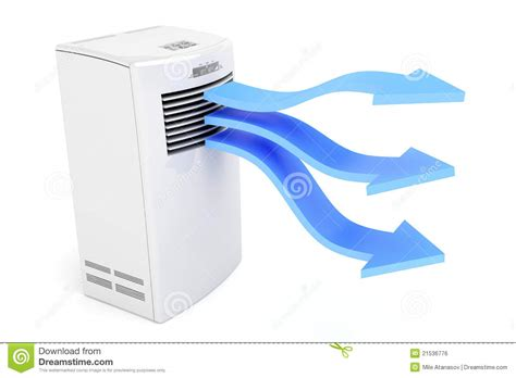 air conditioner blowing cold air stock illustration