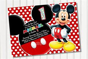 mickey mouse invitation template free studio design gallery best design