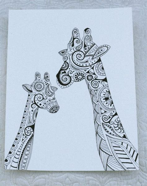 pattern giraffe drawing zentangle giraffe zentangle pinterest style doodles