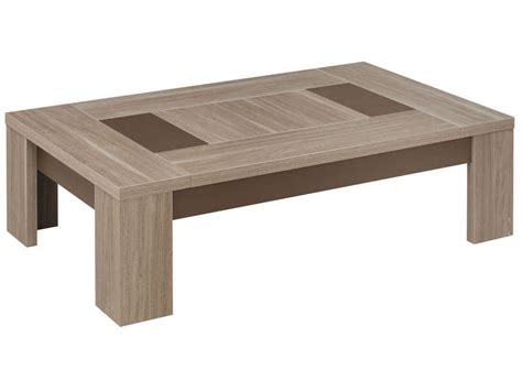 Table De Salon Conforama 2224 by Table Basse Rectangulaire Atlanta Coloris Ch 234 Ne Fusain