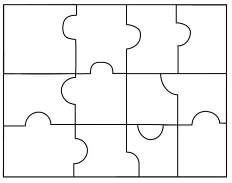 blank jigsaw puzzle template free download puzzle piece templates clipart best