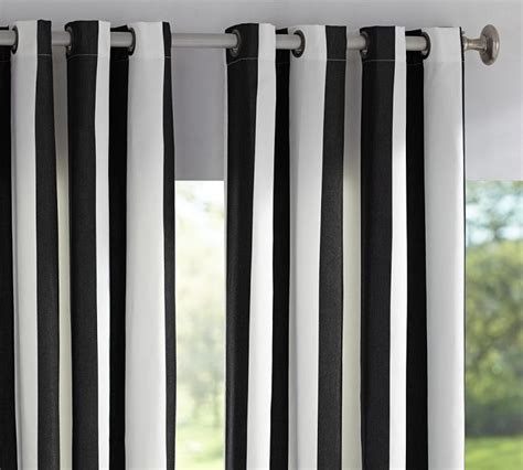 Black And White Striped Curtains For Sale Furniture