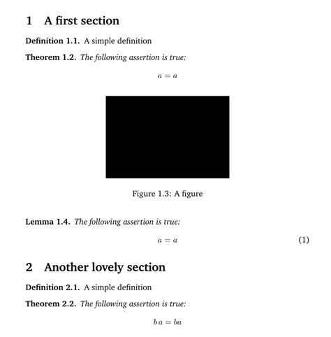 latex no section number section number counter for all figures included tex