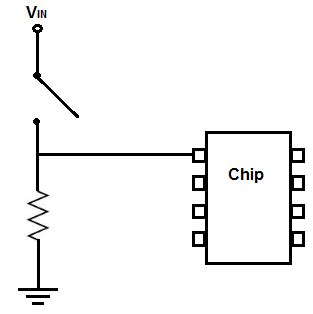 resistors in a circuit how to connect a pull resistor