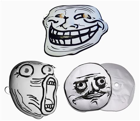 Troll Face Meme Mask - hide behind the faces of the internet with meme masks