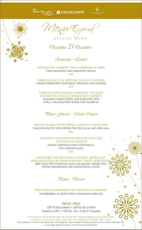 joyden new year menu new years 2011 special menus at la piazzetta la ca 241 a