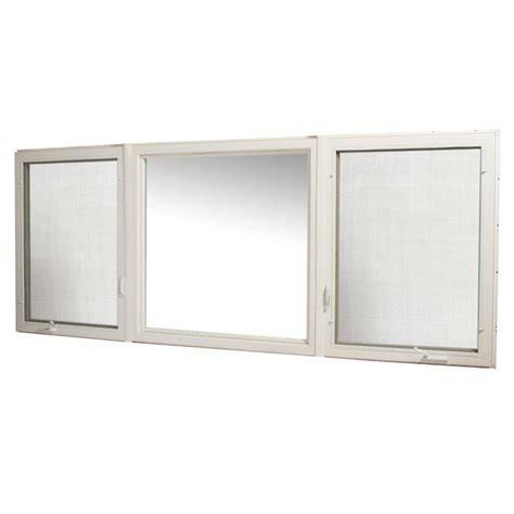 tafco awning windows tafco windows 119 in x 48 in vinyl casement window with screen white vcc11948 rl