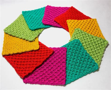 knit home 7 knitted coasters for tabletop protection decor