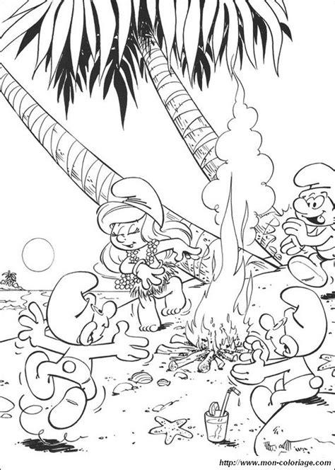 coloriage de schtroumpfs dessin les schtroumpfs en