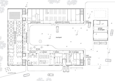 Elevation Floor Plan by Gallery Of Military Base A Lab 3