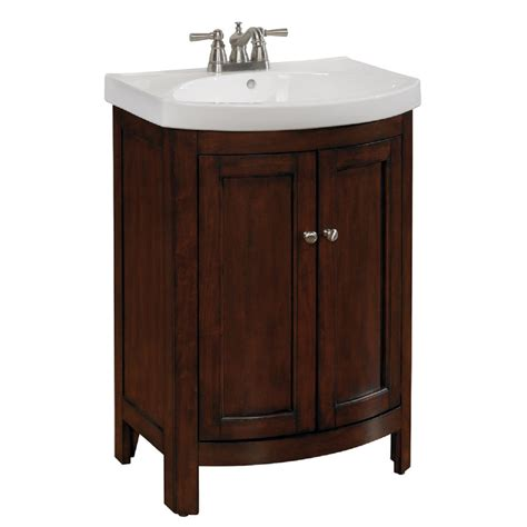 allen roth moravia   sable single sink bathroom vanity  white vitreous china top